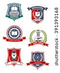 university  academy  college... | Shutterstock .eps vector #391393168