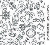 vector illustration of outline... | Shutterstock .eps vector #391393903