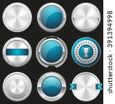 collection of silver and light... | Shutterstock .eps vector #391394998