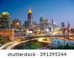Atlanta Georgia Usa Downtown Skyline - Fine Art prints