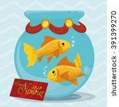 little aquarium with a couple... | Shutterstock .eps vector #391399270