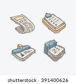 vector cartoon style office...