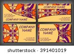 set of business card template ... | Shutterstock .eps vector #391401019