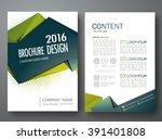 modern flyers brochure cover... | Shutterstock .eps vector #391401808