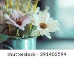 white flower in vase | Shutterstock . vector #391402594