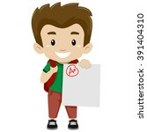 vector illustration of a boy... | Shutterstock .eps vector #391404310