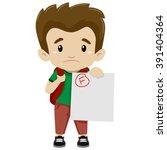 vector illustration of a boy... | Shutterstock .eps vector #391404364
