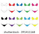set of bikinis in different... | Shutterstock . vector #391411168