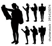 set of seven silhouettes   the...