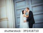 beautiful wedding walk near the ... | Shutterstock . vector #391418710