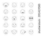 emoticons collection. set of... | Shutterstock .eps vector #391419583