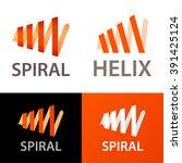 vector spiral logo template. | Shutterstock .eps vector #391425124