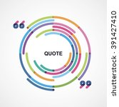 round frame with quotes | Shutterstock .eps vector #391427410