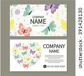 Business Card With Butterflies...