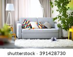 living room interior with sofa  ... | Shutterstock . vector #391428730