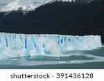 view of ice falling from the... | Shutterstock . vector #391436128
