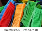 colorful brooms | Shutterstock . vector #391437418