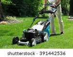 Lawnmower Is Being Used By...