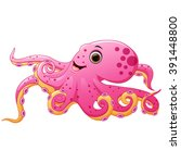 cute octopus cartoon | Shutterstock . vector #391448800