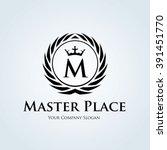 hotel logo boutique logo crest... | Shutterstock .eps vector #391451770