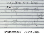 recruiting and hiring  step by...   Shutterstock . vector #391452508