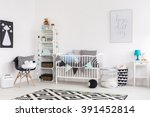 shot of a stylish modern baby... | Shutterstock . vector #391452814