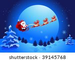 christmas night  and santa claus | Shutterstock .eps vector #39145768
