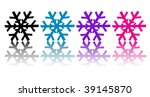 vector of colorful snowflakes... | Shutterstock .eps vector #39145870