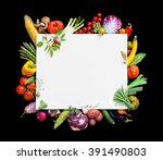 healthy food background and... | Shutterstock . vector #391490803