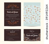 wedding floral set with... | Shutterstock .eps vector #391492264