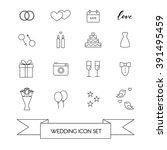 wedding vector icon set. 15... | Shutterstock .eps vector #391495459