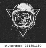 lost in space. dead astronaut... | Shutterstock .eps vector #391501150