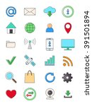 set of 24 internet icons | Shutterstock .eps vector #391501894