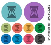 color hourglass flat icon set...
