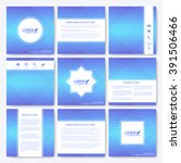 blue set of brochure. square... | Shutterstock .eps vector #391506466