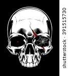 evil skull | Shutterstock .eps vector #391515730