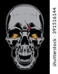evil skull | Shutterstock .eps vector #391516144