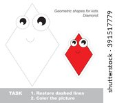 diamond in vector to be traced. ... | Shutterstock .eps vector #391517779
