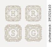 set of monogram   Shutterstock .eps vector #391521610