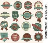 vintage badge label frame... | Shutterstock .eps vector #391522684