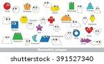 geometric shapes set in vector  ...   Shutterstock .eps vector #391527340