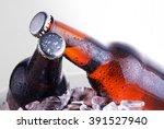 Brown Bottles Of Beer Chilling...