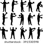 man with a cup and bicker...   Shutterstock .eps vector #391530598
