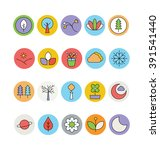 nature colored vector icons 2   Shutterstock .eps vector #391541440