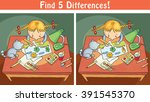 find differences game with a... | Shutterstock .eps vector #391545370