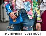 milan   february 26  woman... | Shutterstock . vector #391548934