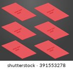 red visit card moke up on dark... | Shutterstock .eps vector #391553278