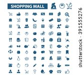 shopping mall icons  | Shutterstock .eps vector #391555276