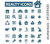 realty icons  | Shutterstock .eps vector #391555420