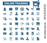 online training icons  | Shutterstock .eps vector #391555453